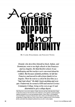Access Without Support is Not Opportunity