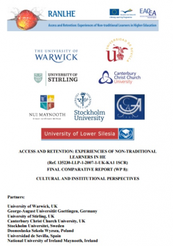 Cultural and Institutional Perspectives on Experiences of Non-Traditional Students in European Higher Education