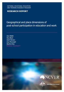 Geographical and place dimensions of post-school participation in education and work